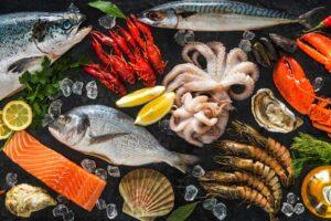 Speisekarte Fisch